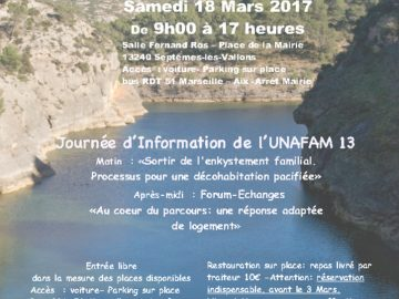 Journée d'information de l'UNAFAM 13